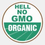 Hell No GMO Orgainc Sticker