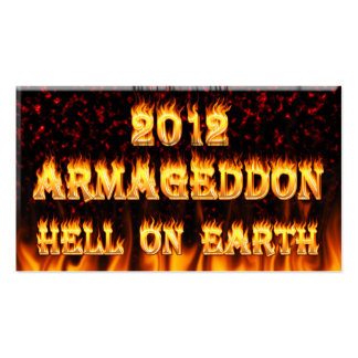 Hell on earth fire and flames. pack of standard business cards