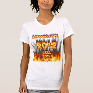 Hell on earth fire and flames. t shirts