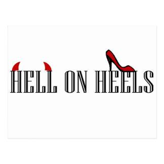 Hell On Heels Postcard