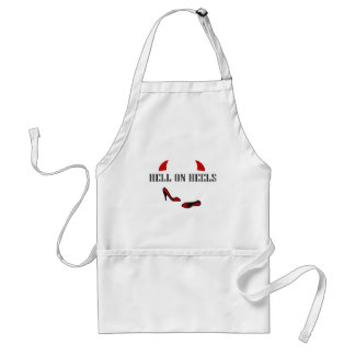 Hell On Heels with little horns Apron