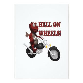 Hell On Wheels 13 Cm X 18 Cm Invitation Card