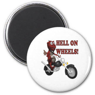 Hell On Wheels 6 Cm Round Magnet