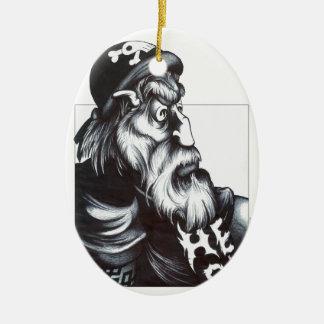 Hell Rider Ceramic Oval Decoration