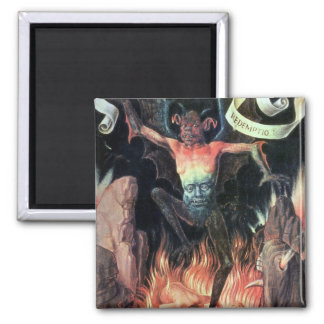 Hell, right hand panel from Triptych of Earthly Square Magnet