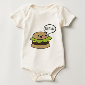 Hell Yeah Burger Baby Bodysuit