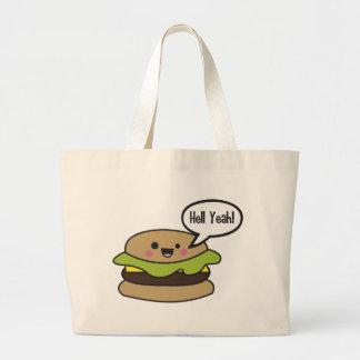 Hell Yeah Burger Tote Bag