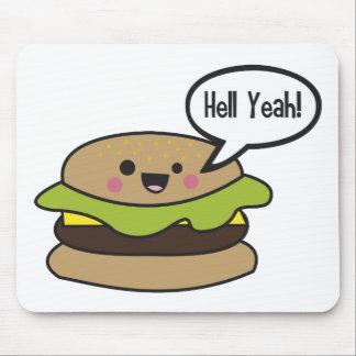 Hell Yeah Burger Mouse Mat