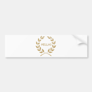 Hellas with Gold olive Wreath Bumper Sticker
