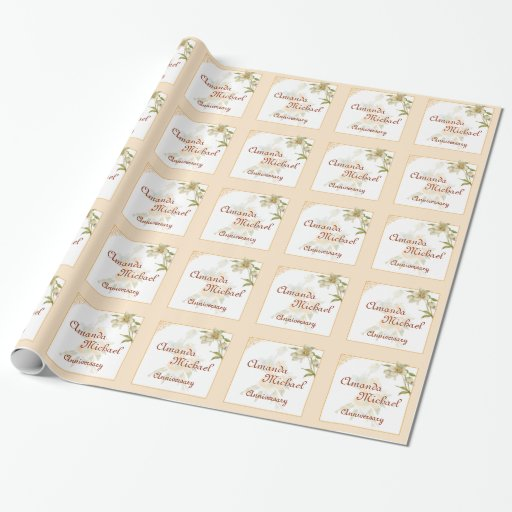 Hellebore anniversary gift wrap