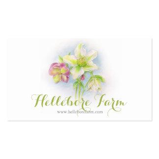 Hellebore flower art farm business card