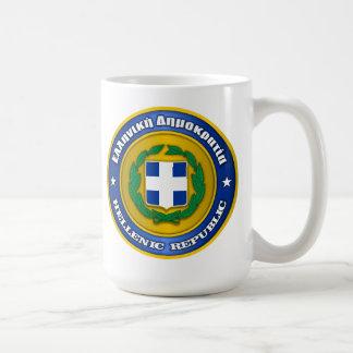 Hellenic Republic (Greece) Medallion Basic White Mug