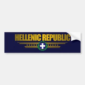 Hellenic Republic (Greece) Medallion Bumper Sticker