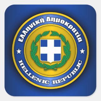 Hellenic Republic (Greece) Medallion Square Sticker