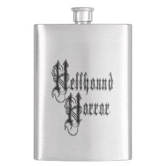 Hellhound Horror Logo Flask