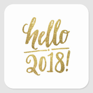 Hello 2018 New Year Stickers and Shirts