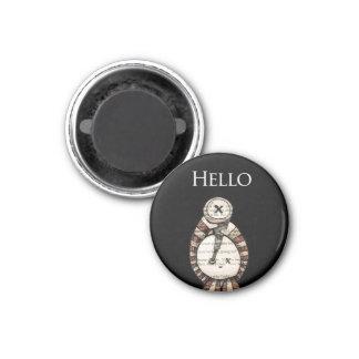 Hello… 3 Cm Round Magnet