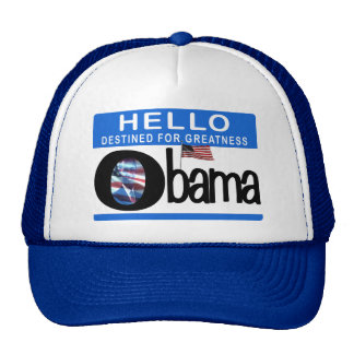 Hello 44th President Barack Obama Hats
