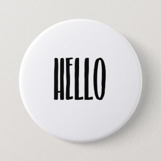 Hello 7.5 Cm Round Badge
