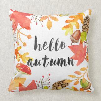 Hello autumn cushion