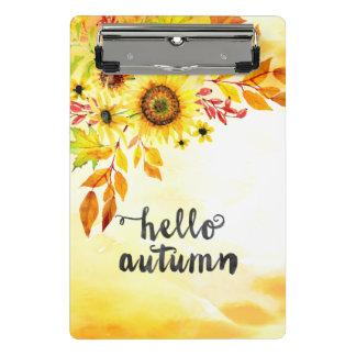 Hello autumn mini clipboard