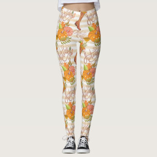 Hello Autumn Pattern Leggings