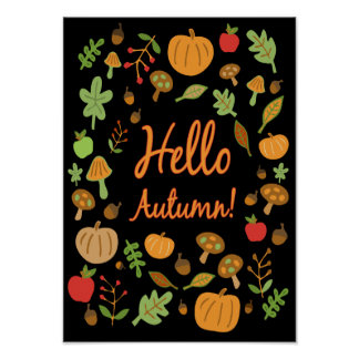 Hello Autumn! Poster