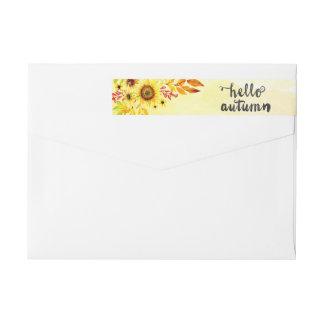 Hello autumn wraparound return address label