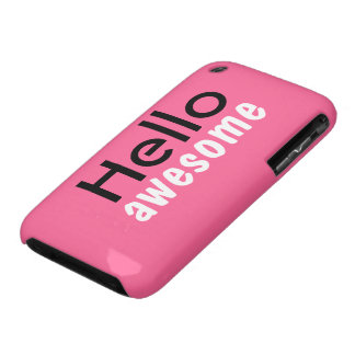 """Hello Awesome"" iPhone 3GS Case iPhone 3 Case-Mate Case"