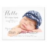 Hello Baby Birth Announcement 11 Cm X 14 Cm Invitation Card