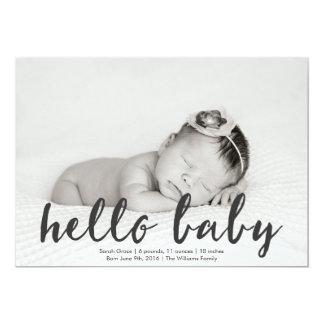 Hello Baby Photo Birth Announcement