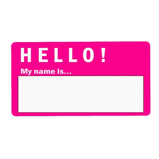 Hello Badge Name Badge Labels