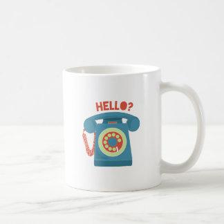Hello? Basic White Mug
