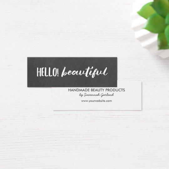 Hello! Beautiful Chalkboard Mini Business Card
