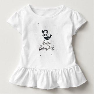Hello Beautiful Dot Mermaid Toddler Ruffle Shirt