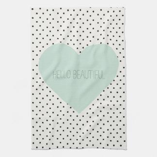 Hello Beautiful Heart Kitchen Towel
