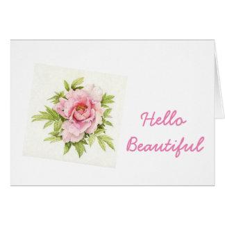 Hello Beautiful Notecard