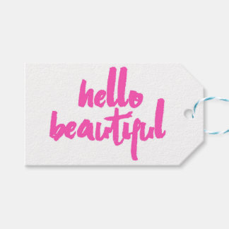 Hello Beautiful | Pink | Tags