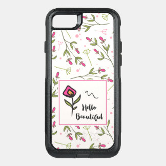 Hello Beautiful Pretty Pink Orange Wildlflower OtterBox Commuter iPhone 8/7 Case