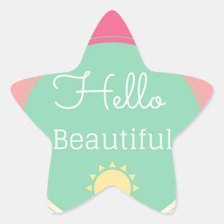 Hello Beautiful Star Sticker