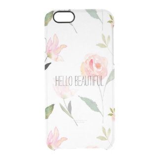 Hello Beautiful Watercolor Floral iPhone 6 Plus Case