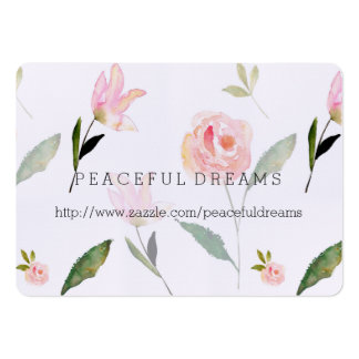 Hello Beautiful Watercolor Floral Pack Of Chubby Business Cards