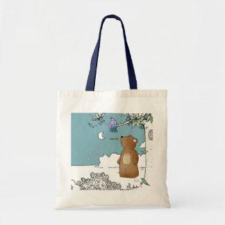 Hello Bird said Mr Bear - tote bag