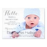 Hello Birth Announcement 11 Cm X 16 Cm Invitation Card