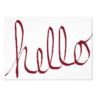 hello blank card handwritten hello