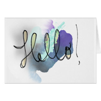 Hello! - Blank Greeting Card