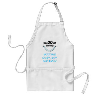 Hello Braces Blue Orthodontist Patient Gift Custom Standard Apron