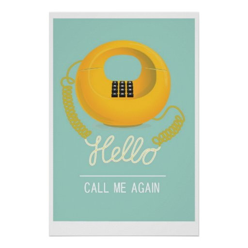 Hello - call me again poster
