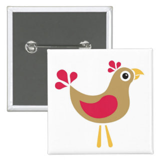 Hello Chicken! Funky Chicken Pin Badge