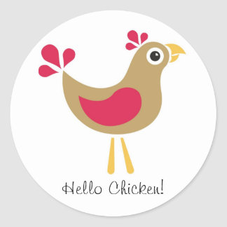 Hello Chicken! Funky Chicken Sticker Sheet